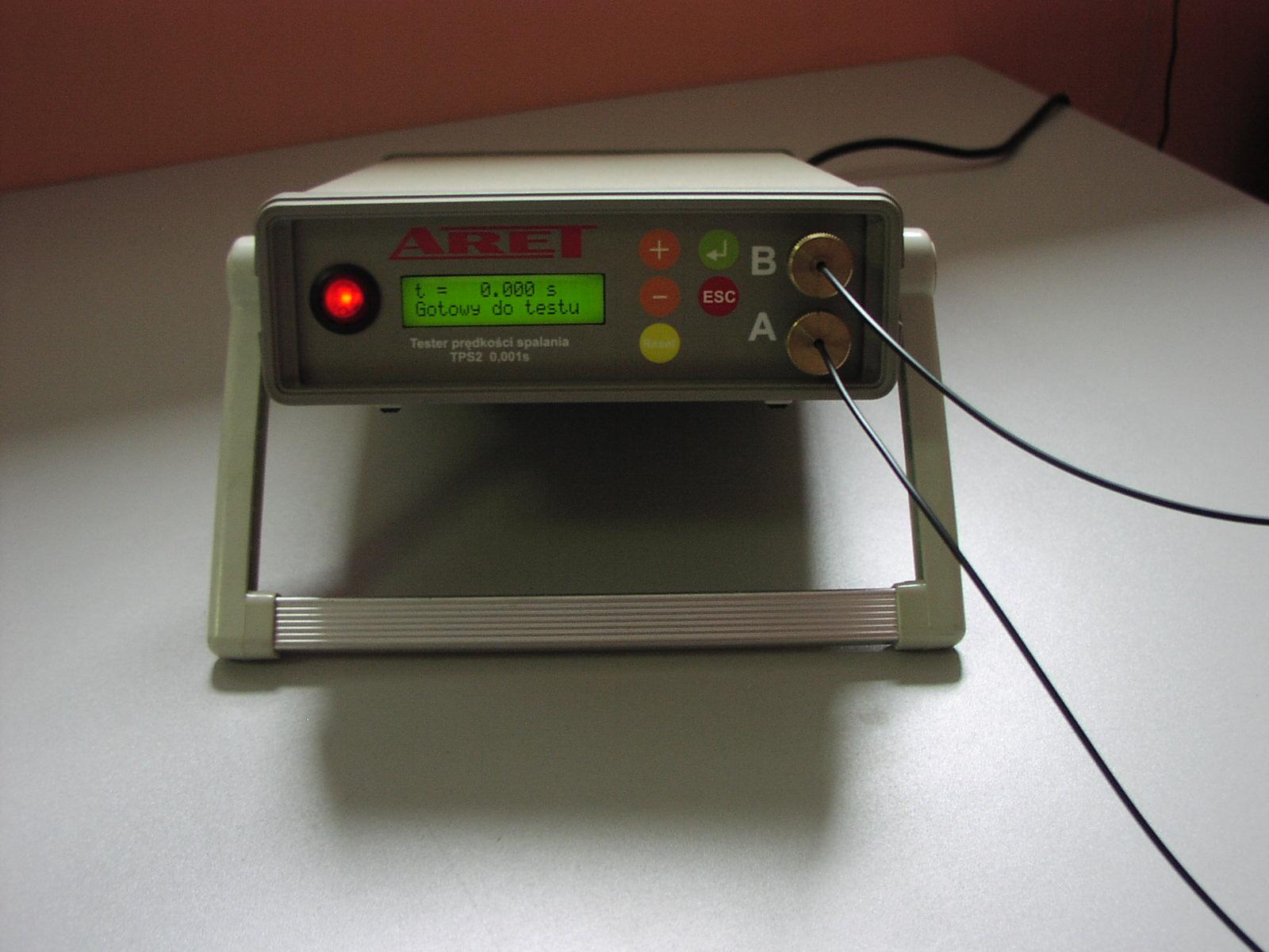 Miernik szybkości spalania. TPS2 0,001s